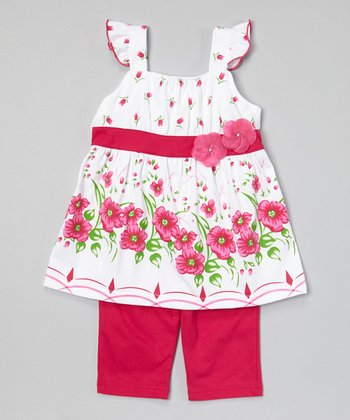 Fuchsia Floral Tunic & Capris - Infant, Toddler & Girls