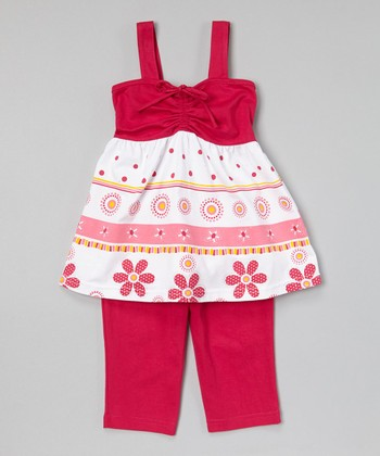 Fuchsia Tiered Tunic & Capris - Toddler & Girls