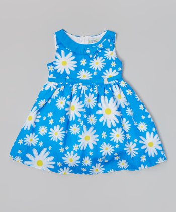 Royal Daisy A-Line Dress - Toddler & Girls