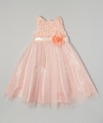 Peach Petal Flower Dress - Toddler & Girls