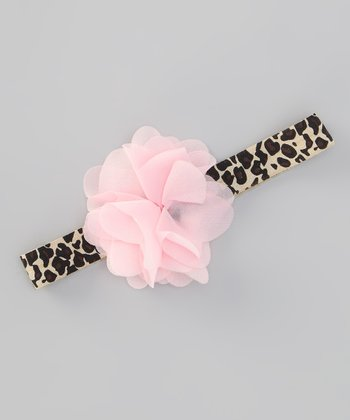 Cheetah Flower Headband