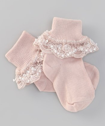 Truffles Ruffles Pale Blush Bella Socks