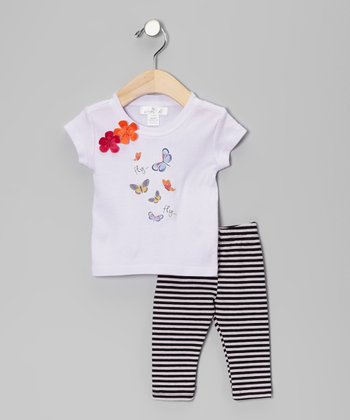 Violet Butterfly Tee & Pants - Infant