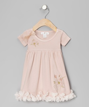Pale Blush Pretty Posy Babydoll Dress