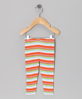 Orange & White Stripe Pants – Infant