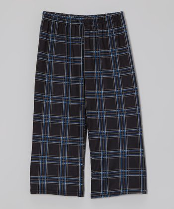 Black Plaid Pajama Pants - Toddler & Boys