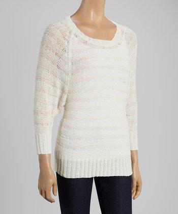Peach Stripe Sweater