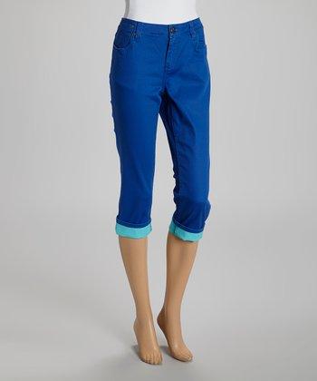 Cobalt Capri Pants