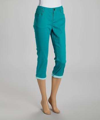 Emerald Capri Pants