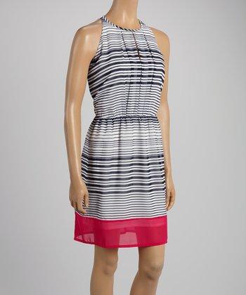 Midnight Stripe Sleeveless Dress