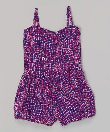 Purple Pebble Romper - Infant, Toddler & Girls
