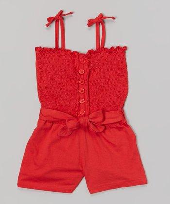 Lollipop Shirred Romper - Girls