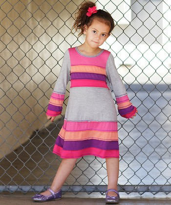 Gray Horizon Dress - Toddler & Girls