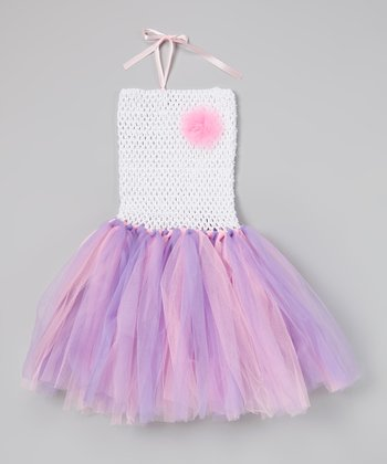 Pink & Lavender Flower Tutu Dress - Infant & Toddler