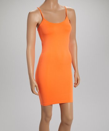 Neon Orange Camisole Slip - Women