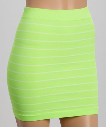 Neon Lime Miniskirt - Women