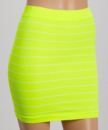 Neon Yellow Miniskirt - Women