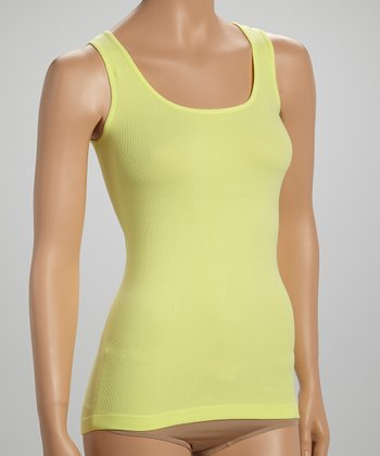 Yellow Seamless Ribbed Tank - Women