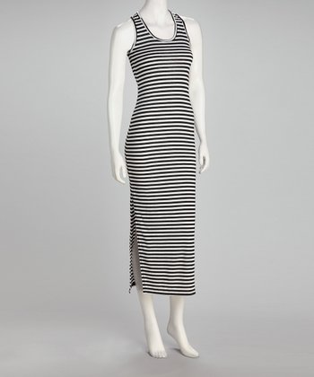 Black & White Stripe Midi Dress