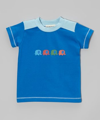 Dark Blue Elephant Organic Tee - Infant