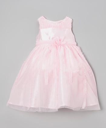 Light Pink Ruffle Rosette Dress - Infant, Toddler & Girls