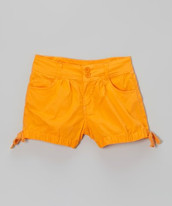 Creamsicle Side-Tie Shorts - Toddler & Girls