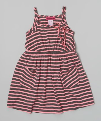 Pink Stripe Pocket Dress - Toddler & Girls