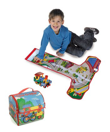 Train Station Storage Box Play Mat & Train Construction Kit
