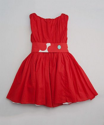 Red Poppy Degas Dress - Toddler & Girls