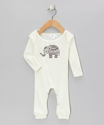 Truffles Ruffles Ivory Elephant Playsuit - Infant