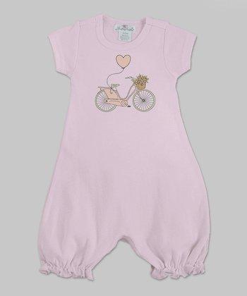 Truffles Ruffles Pink Bicycle Romper - Infant