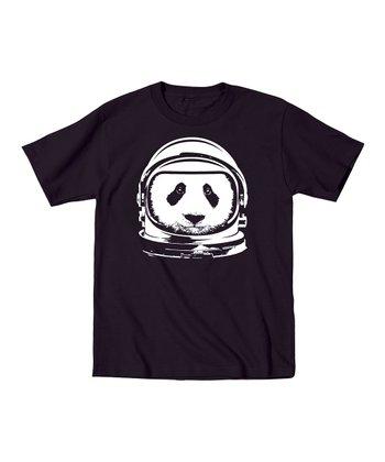 KidTeeZ Black Astronaut Panda Tee - Toddler & Kids
