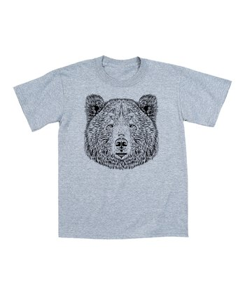 Athletic Heather Bear Face Tee - Toddler & Kids