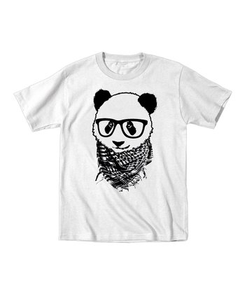 White Hipster Panda Tee - Toddler & Kids
