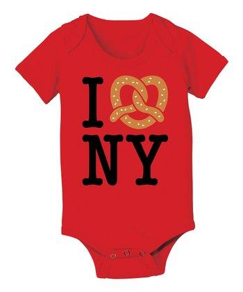 KidTeeZ Red 'I Love NY' Bodysuit - Infant
