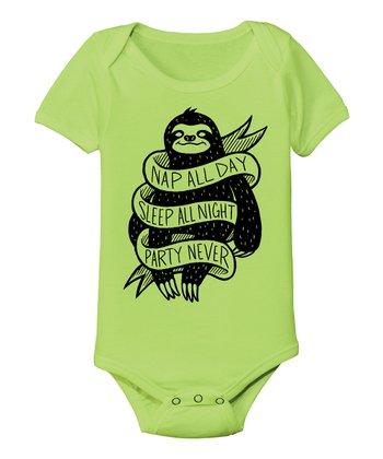 KidTeeZ Key Lime 'Nap All Day' Bodysuit - Infant