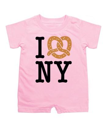 KidTeeZ Light Pink 'I Love NY' Romper - Infant