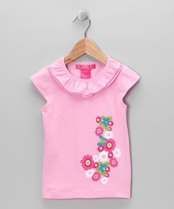 Mauve Butterfly Ruffle Top - Infant, Toddler & Girls