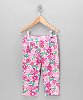Pink Butterfly Leggings - Toddler & Girls
