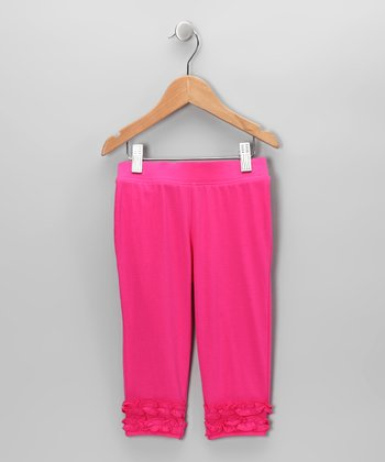 Hot Pink Ruffle Leggings - Infant, Toddler & Girls