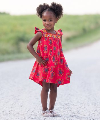 Child of the World Red Princess Ruffle Dress - Toddler & Girls