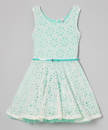 Gumdrop Daisy Crocheted Belted Dress
