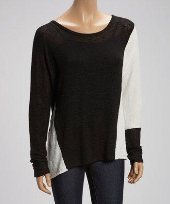 Black & White Dolman Sweater