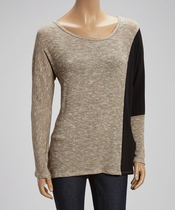 Gold & Black Side-Accent Sweater