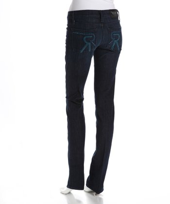 Heracles Blue Stella Low-Rise Straight-Leg Jeans