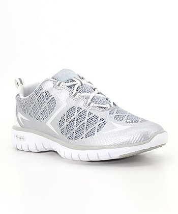 Silver & White Travel Sport Running Shoe