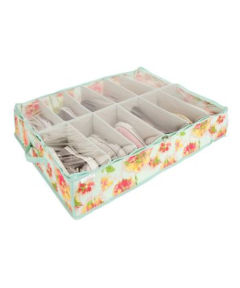 Ikat Floral Under-the-Bed Shoe Organizer