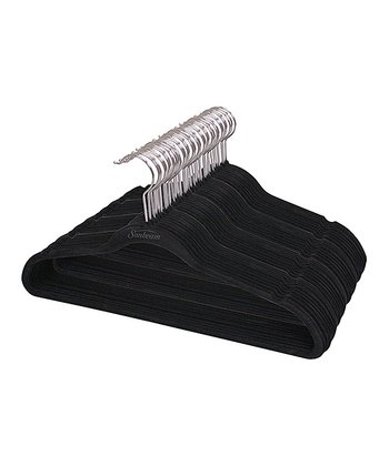Black Velvet Hanger - Set of 40