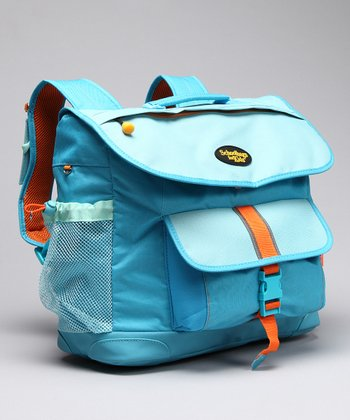 Turquoise Signature Large Backpack