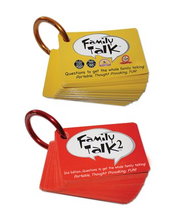 Family Talk & Family Talk 2 Card Games Set